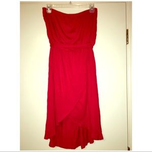 The Limited strapless red dress